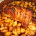 Receita de Porco assado à Ribatejana