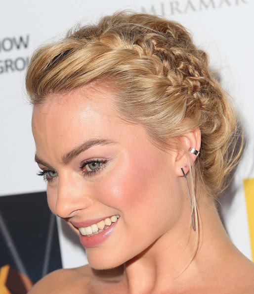 Margot Robbie's Perfectly Plaited Bun