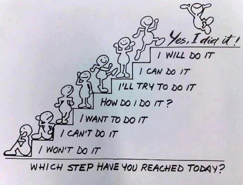 Which Step Have You Reached Today I Wont Do It I Cant Do It I