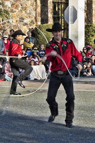 Downey Christmas Parade cowboys