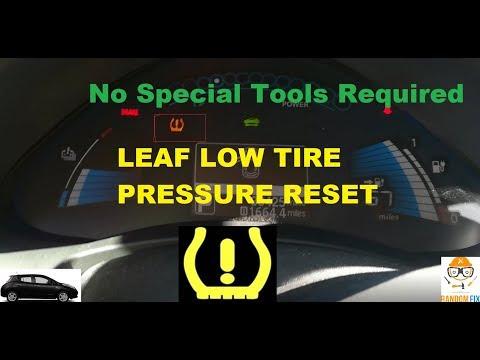 How to Reset Nissan Leaf Low Tire Pressure Light TPMS Как сбросить  датчик давления шин ?