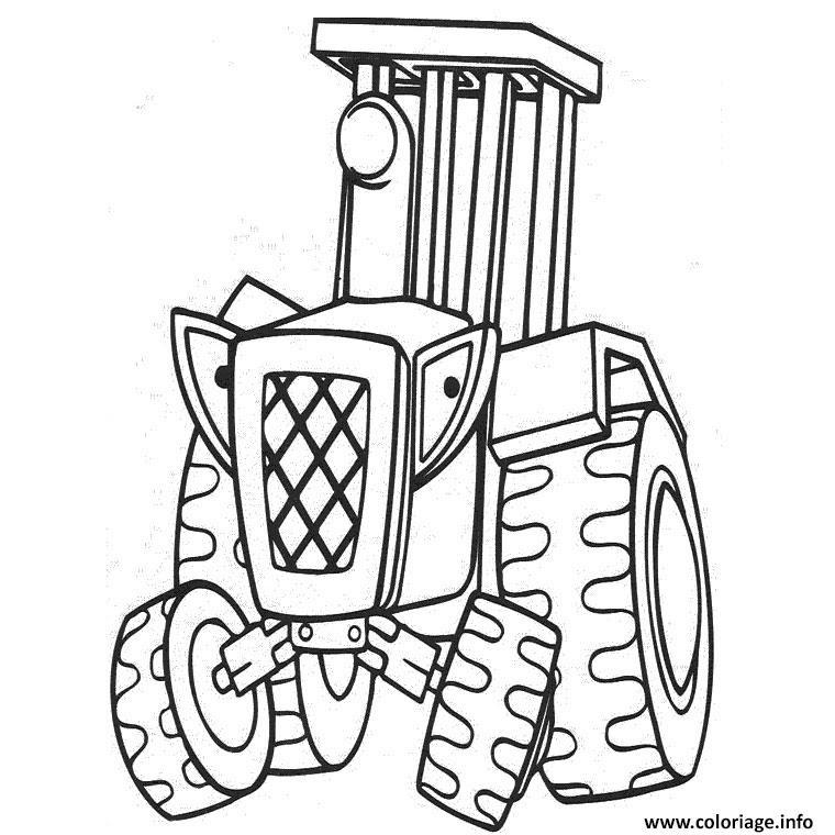 Coloriage Tracteur Ferme Agricole Jecoloriecom