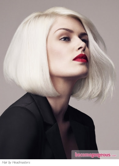 Pictures Medium Long  Hairstyles  Platinum Long  Bob  Hair