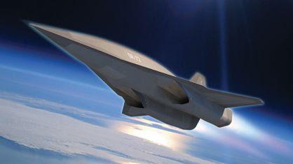 Imagen del avión SR-72 de Lockheed.