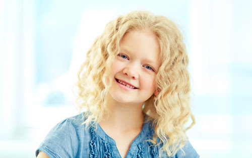 Curly Blonde Kids Hairstyle