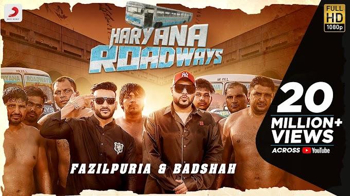 Haryana Roadways Lyrics - Fazilpuria, Badshah