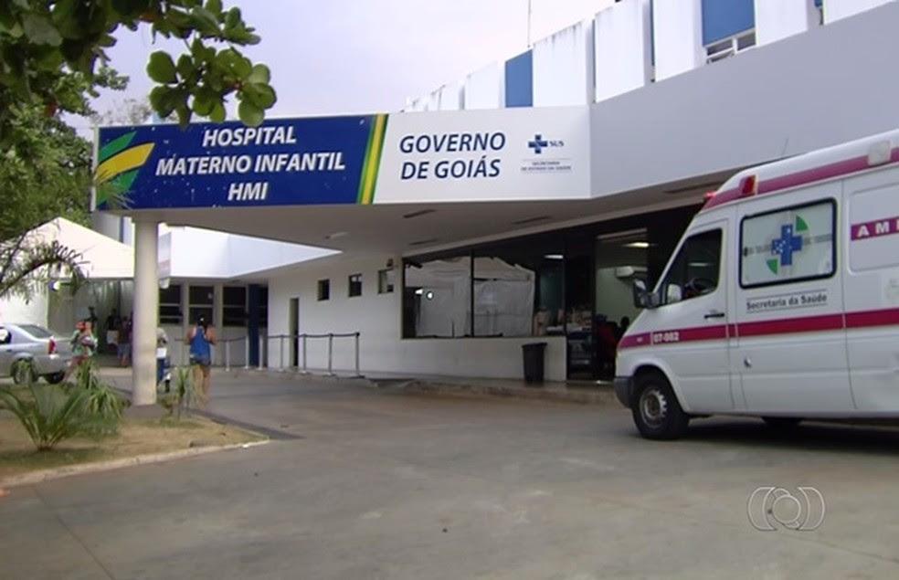 Criança foi levada para o Hospital Materno Infantil em Goiânia (Foto: Reprodução/TV Anhanguera)