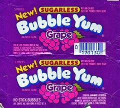 Grape Bubble Yum gum wrapper