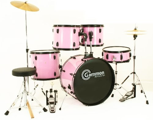 Buying Drum Set : buy pink drum set full size 5 piece kit with cymbals stands hardware sticks ~ Vivirlamusica.com Haus und Dekorationen