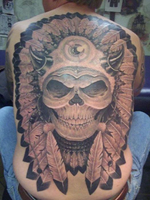 Tribal Skull Tattoos Designs On Back For Men Tattoomagz