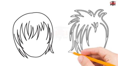 draw anime hair step  step easy  beginners