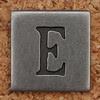 Pewter Uppercase Letter E
