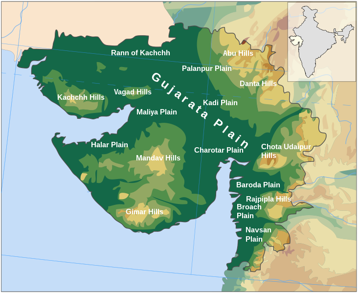 Fileindia Gujarat Physical Svg Wikipedia