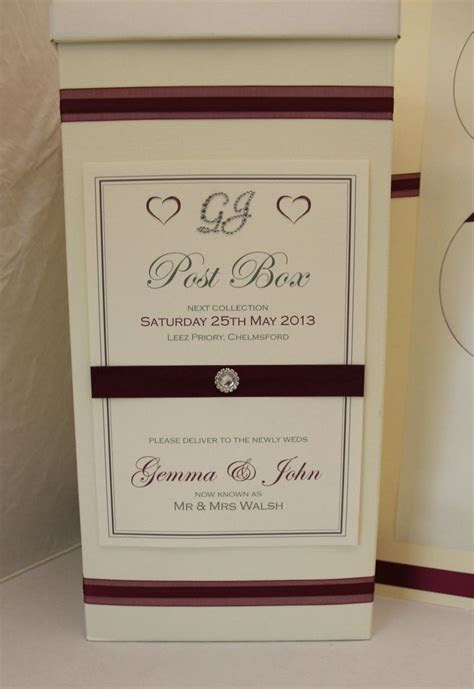 Details about Personalised Wedding Post Box Sign   Wedding