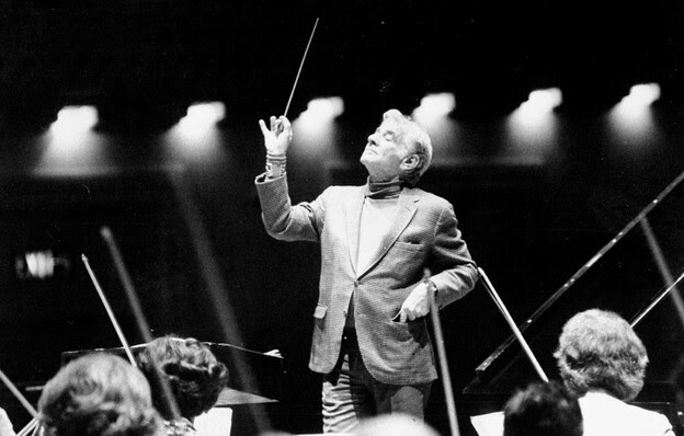 Does This Guy Matter? Conductor Leonard Bernstein during rehearsal with the Cincinnati Symphony at Carnegie Hall in 1977.