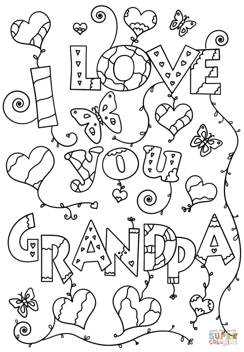 I Love You Grandpa coloring page | Free Printable Coloring ...