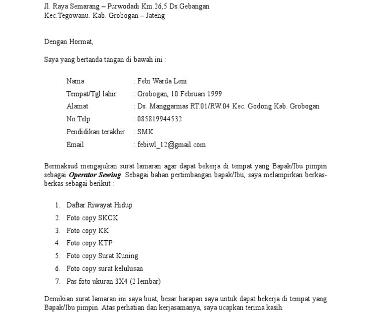 Contoh Surat Pengunduran Diri Dari Pt Garmen - Berbagi ...