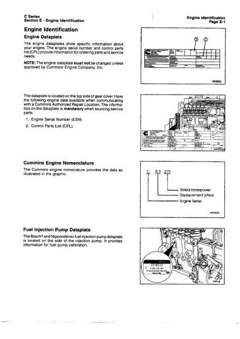 Cummins C Series Engines Workshop Manual PDF