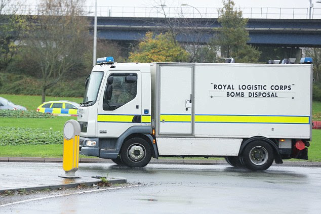 A bomb disposal squad was called to Gatwick Airport to deal with a 'suspicious article'