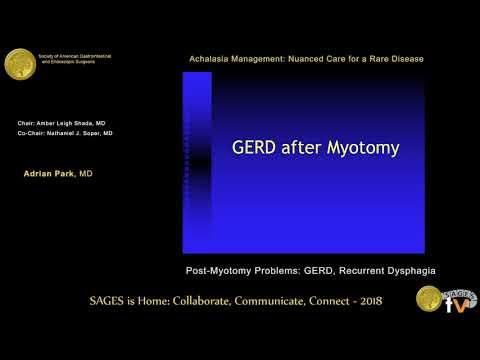 Post-myotomy problems: GERD, recurrent dysphagia