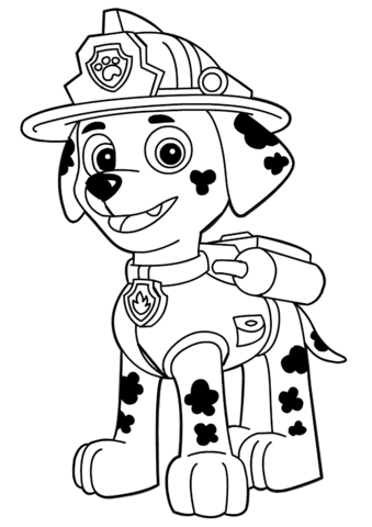 Dibujo De Paw Patrol Marshall Para Colorear Dibujos Para Colorear