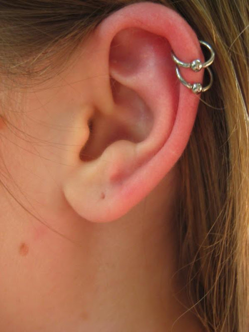 Double Cartilage Piercing Aftercare Complications Jewelry Body