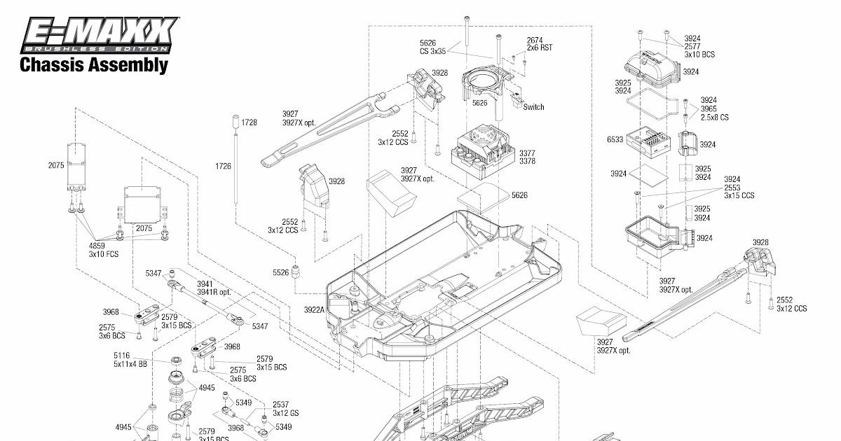 Traxxas Rustler Vxl Parts Diagram