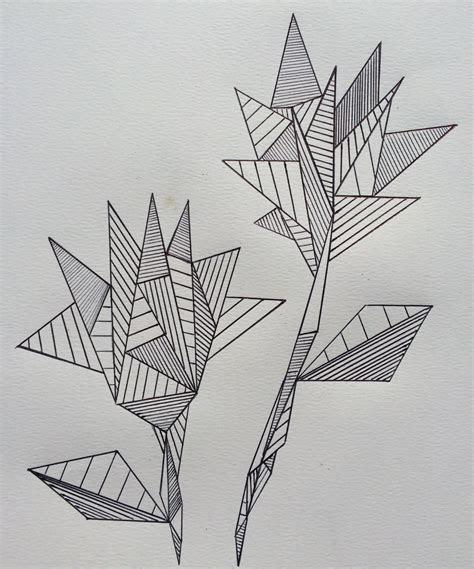 geometric flowers geometric art  drawing art