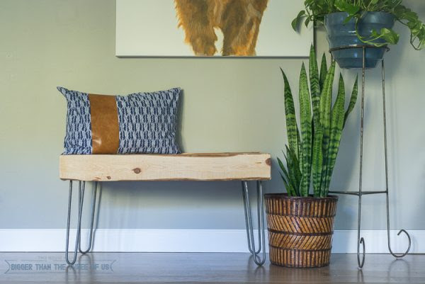 Rustic-Bench-Modern-Bench-Hairpin-Leg-Bench-Tutorial-Bigger Than The Three of Us