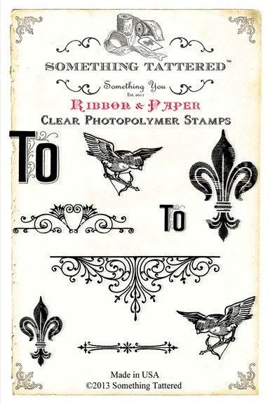 Etwas ramponiert Fleur De Lis Clear Stamp Set