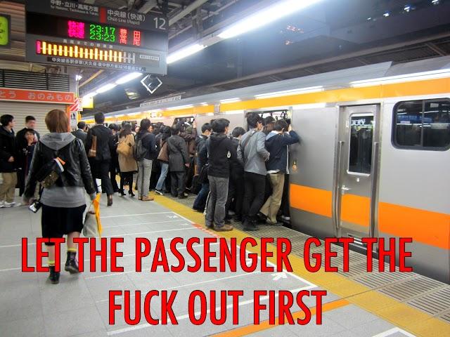 A non-existent public-transport etiquette