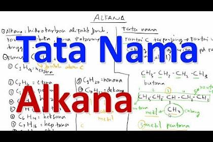 Tata Nama Alkena dan Alkuna pada Senyawa Hidrokarbon