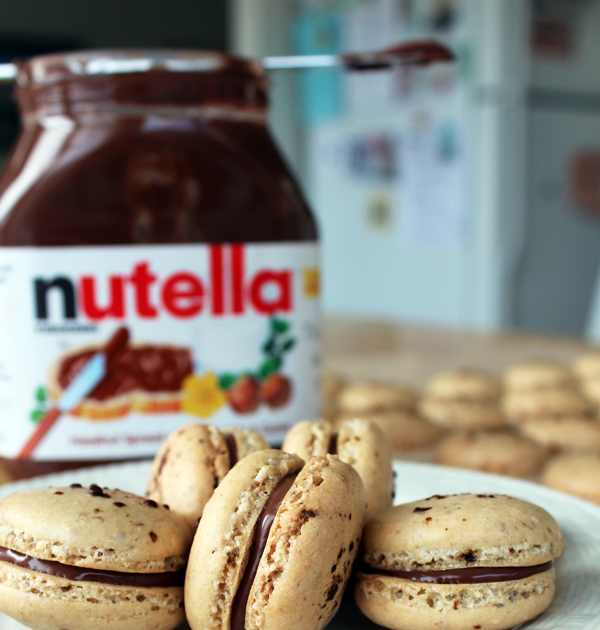 coffee nutella macarons