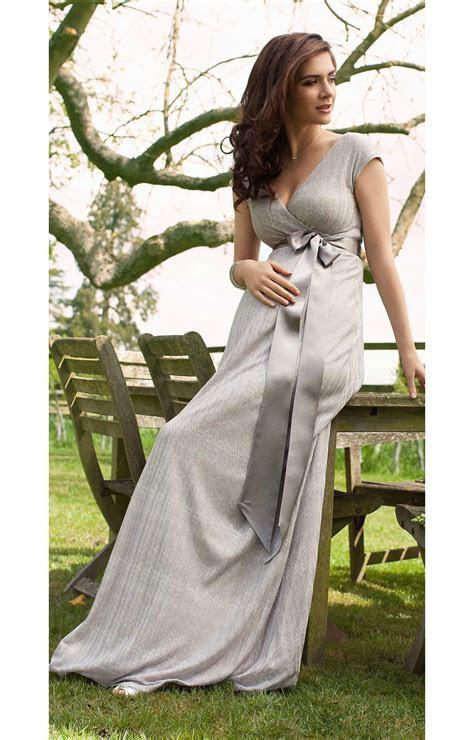 Summer Breeze Maxi Maternity Dress (Silver)   Maternity