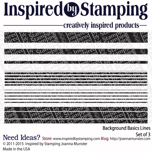 Inspired by Stamping Background Basics Lines stamp set