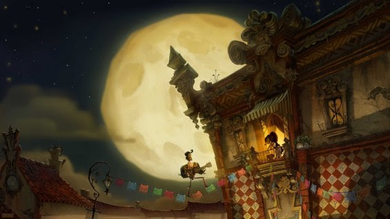 "rufftoon:  ""Book Of Life"" Some of the artwork unveiled for the upcoming animated film from studio ReelFX. The movie has a released date of October 17th 2014. I can't wait for a trailer! ""..Book of Life hails from Fox Animation and Reel FX Animation Studios (which previously made Free Birds). Guillermo del Toro is one of the producers of the feature, which is set on the Mexican holiday the Day of the Dead and tells of a young man named Manolo who is torn between what he wants to do (play guitar and win the heart of the girl of his dreams) and what his family wants him to do. He ends up traveling across three different worlds to find himself…"" For more information, read more at the source:  http://www.hollywoodreporter.com/heat-vision/first-look-book-life-concept-683635?mobile_redirect=false"