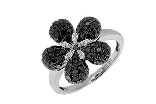 Diamond Flower Rings And Things Black And White