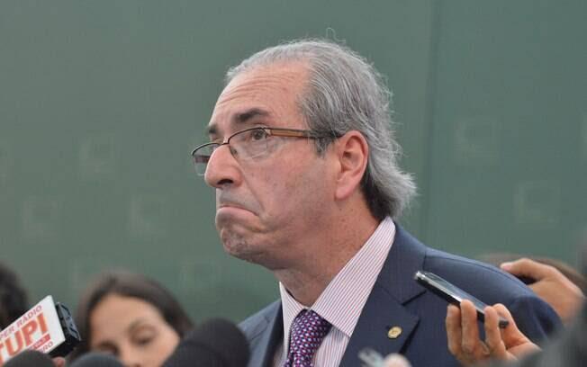 Cunha fala com a imprensa sobre CPI da Petrobras; depoimento dado aos parlamentares desencadeou o inferno astral do parlamentar. Foto: Antônio Cruz/ Agência Brasil - 3.3.15
