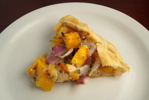 Butternut Squash and Three Cheese Galette