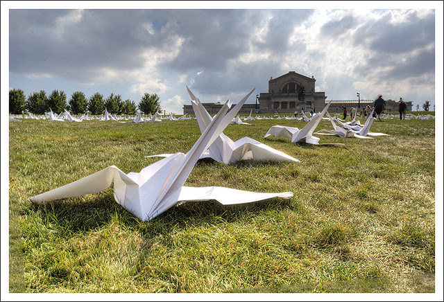 Paper Cranes on Art Hill 5