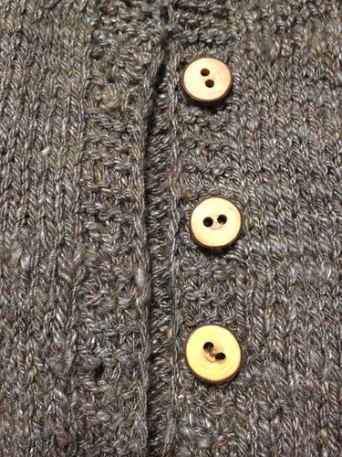 Buttons on sweater