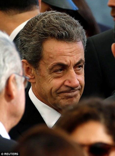 Presidente dos EUA, Barack Obama é recebido pelo Ministério das Relações Exteriores israelense Director Geral Dore Gold - ex-presidente francês Nicolas Sarkozy também participou