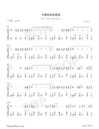 Dont Hurt Me Again No More Love Theme Numbered Musical Notation Preview