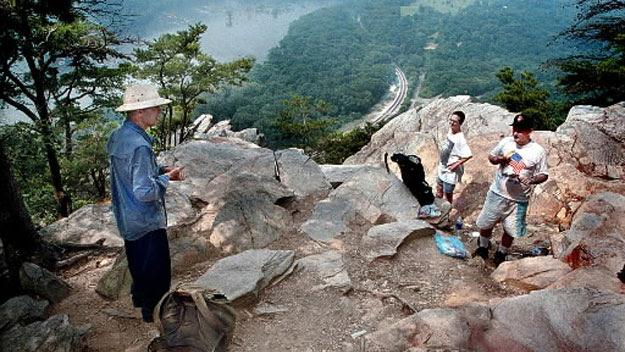 Thru-hikers on Appalachian Trail