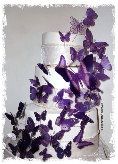 PURPLE BUTTERFLIES 46 Multi Sized 3D Wedding by