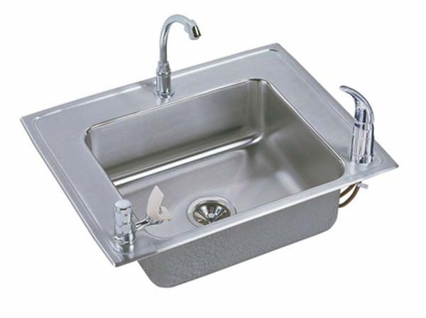 Elkay Classroom Single Bowl Drop In/Self Rimming Stainless ...