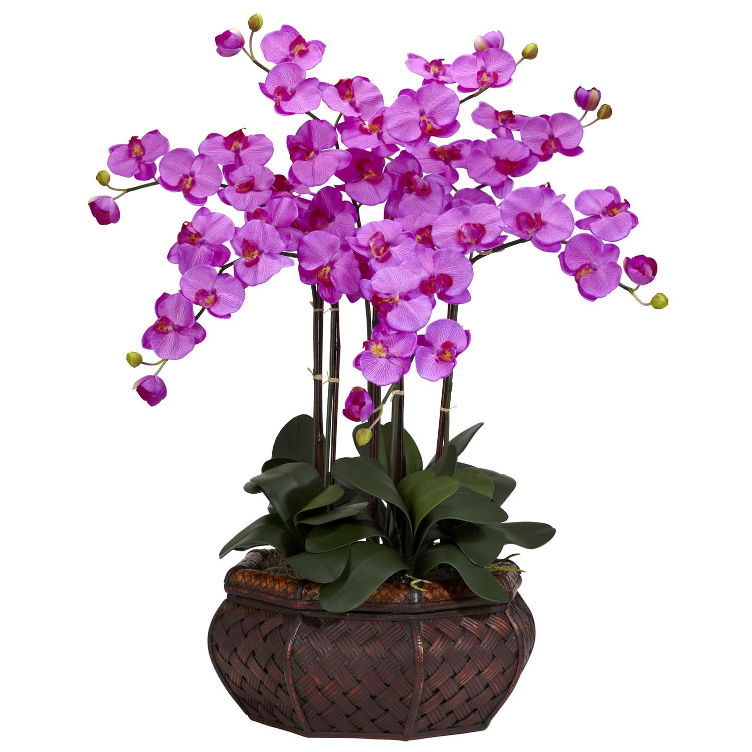 Large Phalaenopsis Orchid Silk Flower Arrangement