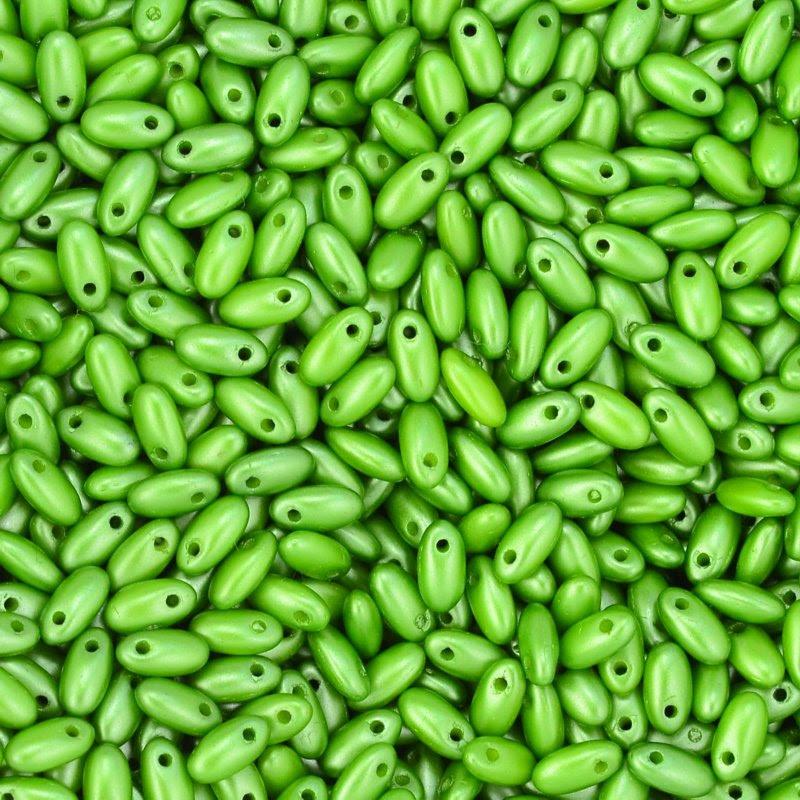 s45109 Czech Seedbeads -  Rizos - Pastel Olivine