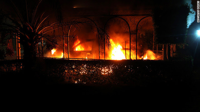 Consulate in Benghazi after attack