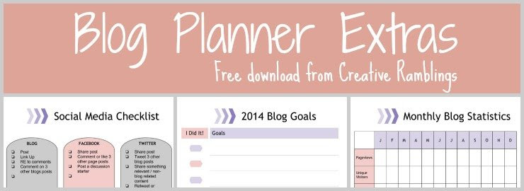 blog planner extras feature